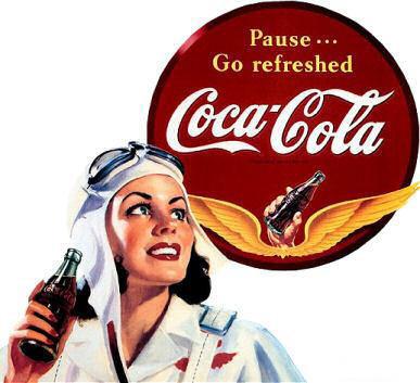Coca-Cola в модных журналах и постеры (Фото 29)