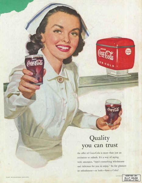Coca-Cola в модных журналах и постеры (Фото 40)