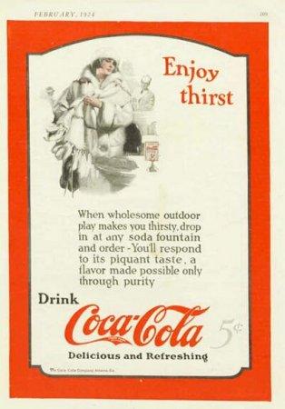 Coca-Cola в модных журналах и постеры (Фото 20)