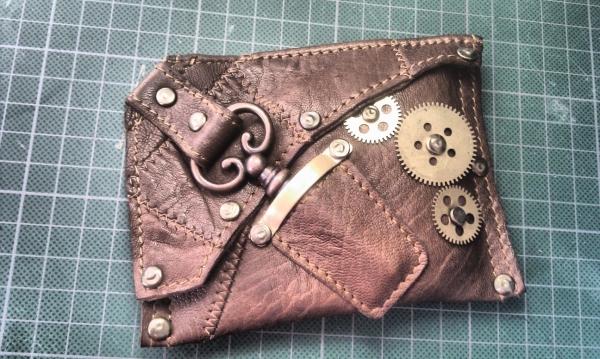 выкройка кошелек из кожи.