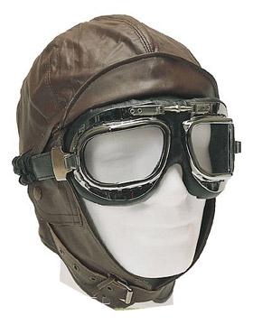 Шлем летный кожаный.