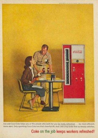 Coca-Cola в модных журналах и постеры (Фото 15)