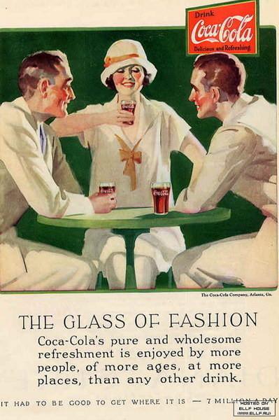 Coca-Cola в модных журналах и постеры (Фото 45)