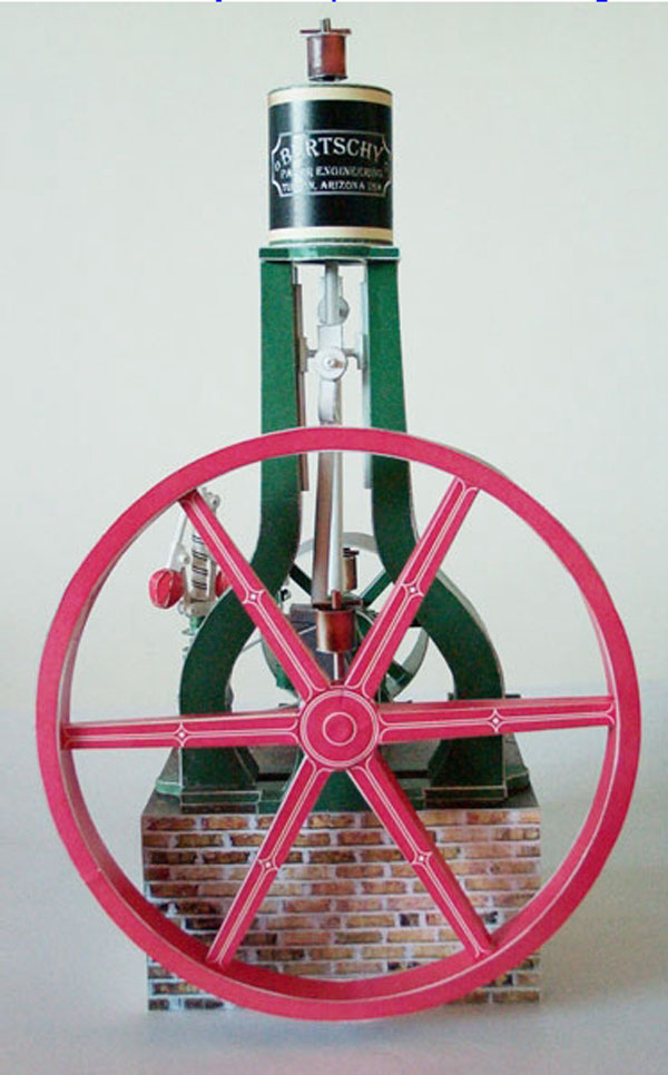 Steam Engine Paper Model.