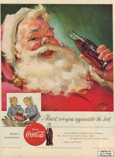 Coca-Cola в модных журналах и постеры (Фото 39)
