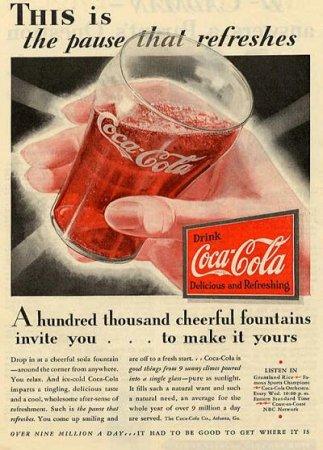 Coca-Cola в модных журналах и постеры (Фото 24)