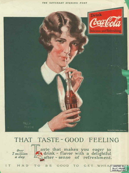 Coca-Cola в модных журналах и постеры (Фото 28)
