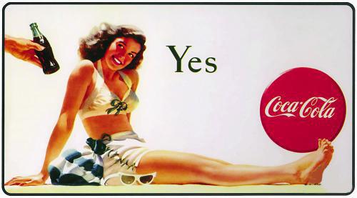 Coca-Cola в модных журналах и постеры (Фото 34)