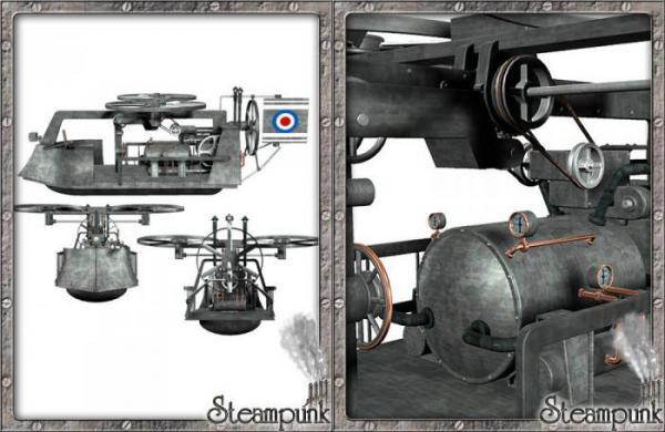 3D Models. Steam Flying Machine. (Фото 2)