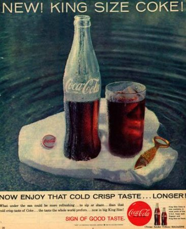 Coca-Cola в модных журналах и постеры (Фото 21)