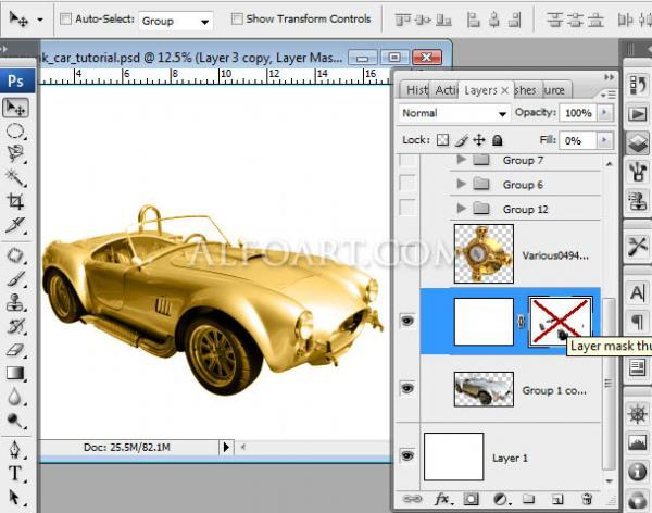 Золотой автомобиль в стиле стимпанк (Фото 4)