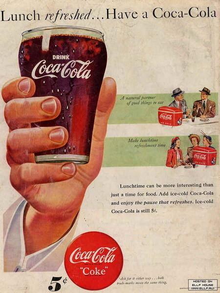 Coca-Cola в модных журналах и постеры (Фото 44)