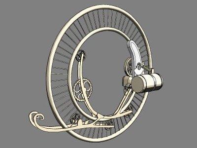 Steampunk Monowheel (Фото 3)