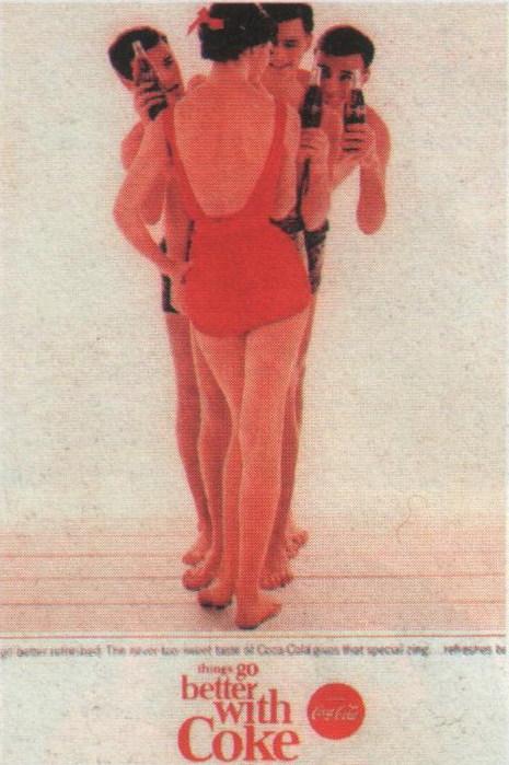 Coca-Cola в модных журналах и постеры (Фото 11)