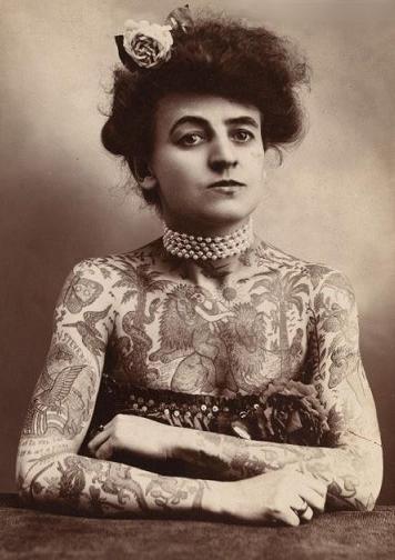 Викторианская татуировка. (Фото 15)
