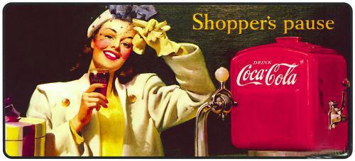 Coca-Cola в модных журналах и постеры (Фото 30)