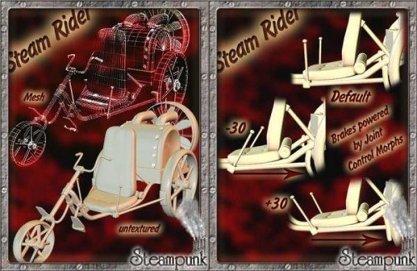3D Models Steam Rider. (Фото 2)