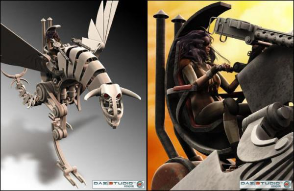 3D Models Steam Dragon. (Фото 2)