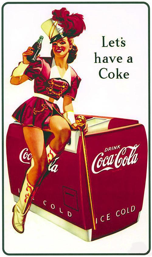 Coca-Cola в модных журналах и постеры (Фото 32)
