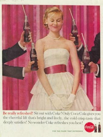 Coca-Cola в модных журналах и постеры (Фото 18)