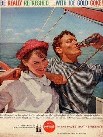 Coca-Cola в модных журналах и постеры (Фото 16)
