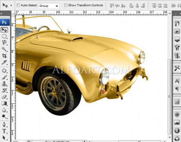 Золотой автомобиль в стиле стимпанк (Фото 5)