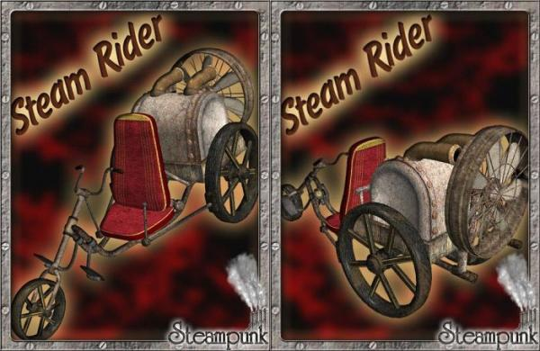 3D Models Steam Rider.