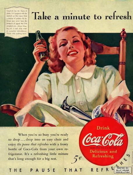 Coca-Cola в модных журналах и постеры (Фото 43)
