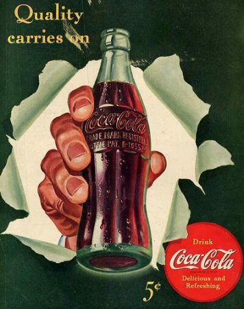 Coca-Cola в модных журналах и постеры (Фото 23)