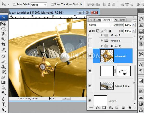 Золотой автомобиль в стиле стимпанк (Фото 7)