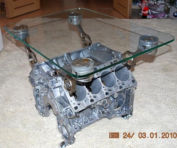 стол из двигателя V8