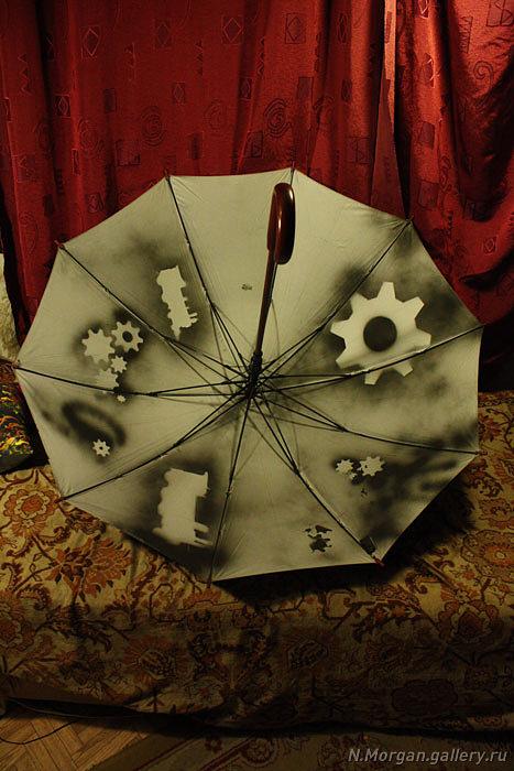 Стрекоза. Зонт с авторской росписью. (Фото 6)