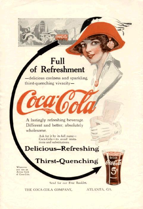 Coca-Cola в модных журналах и постеры (Фото 9)
