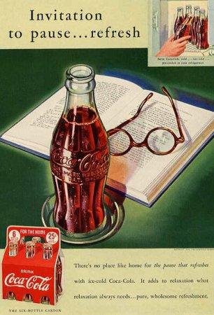 Coca-Cola в модных журналах и постеры (Фото 25)