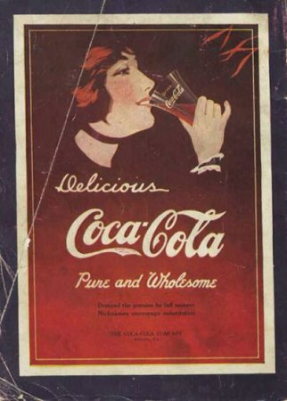 Coca-Cola в модных журналах и постеры (Фото 17)