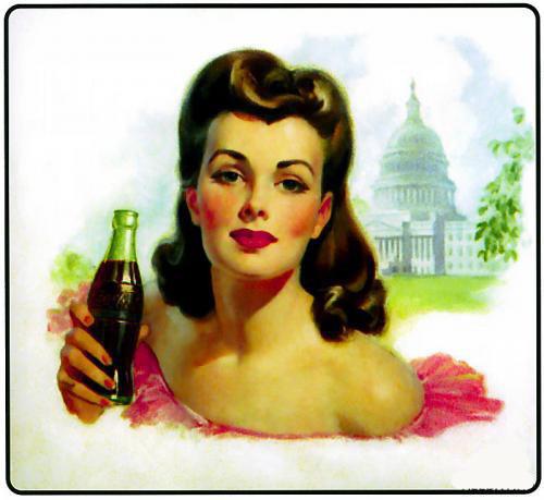 Coca-Cola в модных журналах и постеры (Фото 31)