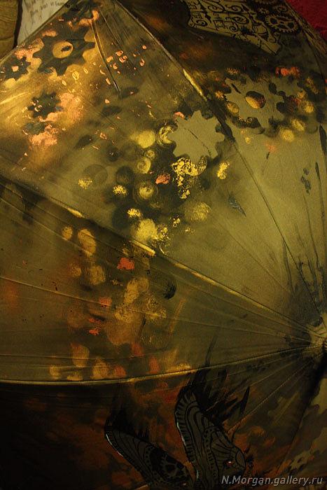 Стрекоза. Зонт с авторской росписью. (Фото 5)