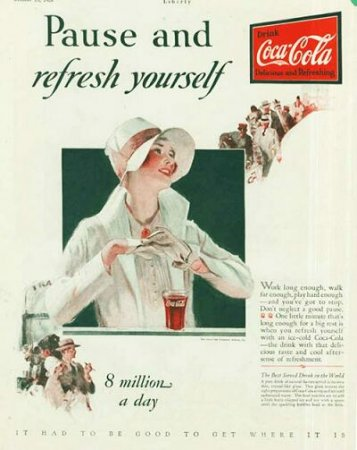 Coca-Cola в модных журналах и постеры (Фото 22)