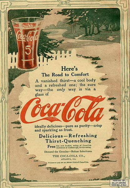 Coca-Cola в модных журналах и постеры (Фото 37)