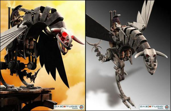 3D Models Steam Dragon.