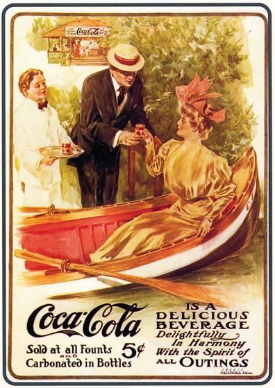 Coca-Cola в модных журналах и постеры (Фото 48)