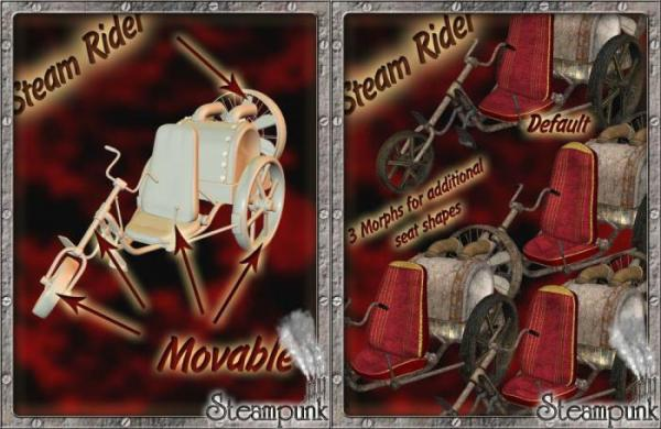3D Models Steam Rider. (Фото 3)
