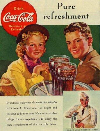 Coca-Cola в модных журналах и постеры (Фото 19)