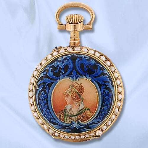 Часы-медальоны Викторианской эпохи (Фото 10)