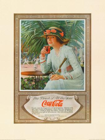 Coca-Cola в модных журналах и постеры (Фото 10)