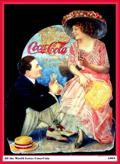Coca-Cola в модных журналах и постеры (Фото 49)