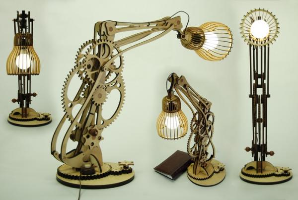 Необычная настольная лампа Механограф выполненая в стиле стим панк