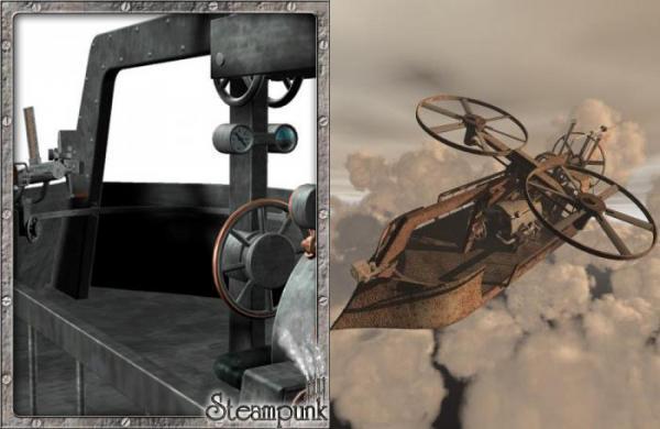 3D Models. Steam Flying Machine. (Фото 3)